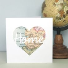 Personalised Home Script Map Card - Ideal Valentine's Day, Wedding, Anniversary, Mother's Day, Father's Day Card